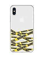 Недорогие -Кейс для Назначение Apple iPhone X / iPhone 8 Plus С узором Кейс на заднюю панель Полосы / волосы Мягкий ТПУ для iPhone X / iPhone 8 Pluss / iPhone 8