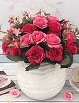 Недорогие -Искусственные Цветы 1 Филиал Классический Стиль Розы Букеты на стол