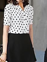 cheap -Women's Vintage / Street chic Shirt - Polka Dot Print