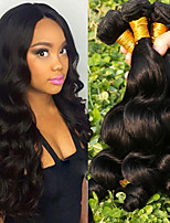 cheap -Brazilian Hair Loose Wave Cosplay Suits / Natural Color Hair Weaves / Tea Party Favors 4 Bundles 8-28 inch Human Hair Weaves Gift / Classic / Fashion Natural Black Human Hair Extensions Women's