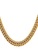 Недорогие -Муж. Толстая цепь Ожерелья-цепочки - Нержавеющая сталь модный, Мода Золотой, Черный, Серебряный 55 cm Ожерелье 1шт Назначение Подарок, Повседневные