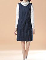 cheap -Women's Basic Set - Striped, Lace Trims Skirt