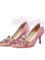 Недорогие -Жен. Обувь Замша Весна / Осень Удобная обувь / Туфли лодочки Обувь на каблуках На шпильке Красный / Розовый