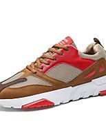 Недорогие -Муж. Синтетика Лето Удобная обувь Кеды Черный / Красный