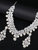 cheap -Women's Synthetic Diamond Layered Jewelry Set - Love Elegant Include Pearl Necklace Silver For Wedding / Party