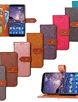 cheap -Case For Nokia Nokia 7 Plus / Nokia 6 2018 Wallet / Card Holder / with Stand Full Body Cases Tile Hard PU Leather for Nokia 7 Plus / Nokia 6 2018