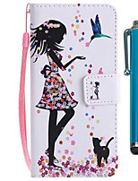 Недорогие -Кейс для Назначение Sony Xperia XZ2 Compact / Xperia XZ2 Кошелек / Бумажник для карт / со стендом Чехол Кот / Соблазнительная девушка Твердый Кожа PU для Xperia XZ2 / Xperia XZ2 Compact / Xperia XZ1