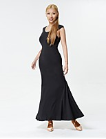preiswerte -Für den Ballsaal Kleider Damen Leistung Milchfieber Horizontal gerüscht Ärmellos Kleid