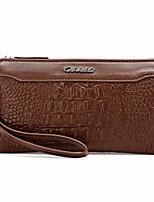 cheap -Men's Bags PU(Polyurethane) Clutch Zipper Black / Brown / Khaki
