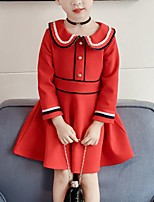 cheap -Kids Girls' Striped Long Sleeve Dress