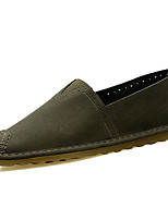 cheap -Men's Shoes Faux Leather / PU(Polyurethane) Summer Comfort Loafers & Slip-Ons Beige / Gray / Army Green