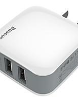 Недорогие -Зарядное устройство USB Baseus 2 Настольная зарядная станция С быстрой зарядкой 2.0 Стандарт Австралии Адаптер зарядки