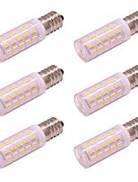 abordables -6pcs 4 W 350 lm E14 Bombillas LED de Mazorca 54 Cuentas LED SMD 4014 Nuevo diseño Blanco Cálido / Blanco Fresco 100-240 V