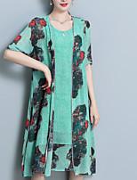 abordables -Mujer Blusa - Geométrico Vestidos