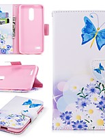 cheap -Case For LG K10 2018 Wallet / Card Holder / with Stand Full Body Cases Flower Hard PU Leather for LG K10 2018