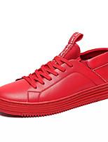 Недорогие -Муж. Кожа / Полиуретан Осень Удобная обувь Кеды Белый / Черный / Красный