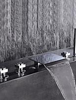 Недорогие -Смеситель для ванны - Современный Хром Настольная установка Керамический клапан