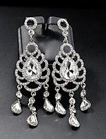 cheap -Women's Long Drop Earrings - Creative Simple, European, Fashion Silver For Wedding / Daily