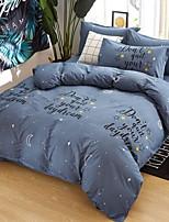 baratos -Conjunto de Capa de Edredão Geométrica 100% algodão Impressão Reactiva 4 Peças