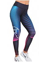 preiswerte -Damen Alltag Sportlich Legging - Geometrisch Mittlere Taillenlinie