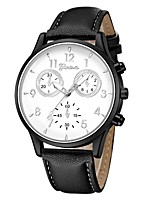 cheap -Geneva Women's Wrist Watch Quartz New Design Casual Watch Cool Leather Band Analog Casual Fashion Black / Blue / Brown - Black / White Rose Gold White / Brown One Year Battery Life