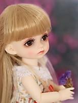 Недорогие -OuenElfs Кукла с шаром / Блайт Кукла Девочки 6 дюймовый Полный силикон для тела - Высокотемпературные резистивные парики Детские Девочки Подарок