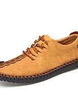 Недорогие -Муж. Наппа Leather / Кожа Весна лето Удобная обувь Кеды Контрастных цветов Черный / Коричневый / Хаки