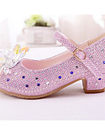 cheap -Girls' Shoes Synthetics Spring / Fall Flower Girl Shoes / Tiny Heels for Teens Heels for Silver / Pink