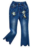 baratos -Infantil Para Meninas Floral Jeans