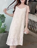 cheap -Women's Set - Solid Colored, Lace Dress