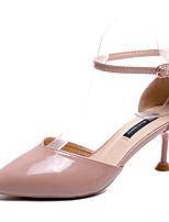 Недорогие -Жен. Обувь Полиуретан Лето Туфли д'Орсе Обувь на каблуках На шпильке Заостренный носок Бежевый / Красный / Миндальный