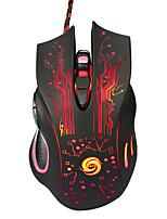 Недорогие -Factory OEM Проводной USB Gaming Mouse RGB свет 3200 dpi 3 Регулируемые уровни DPI 6 pcs Ключи 3 программируемые клавиши