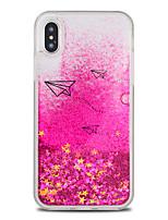 preiswerte -Hülle Für Apple iPhone X / iPhone 8 Plus Mit Flüssigkeit befüllt / Muster Rückseite Cartoon Design / Glänzender Schein Hart TPU / PC für iPhone X / iPhone 8 Plus / iPhone 8