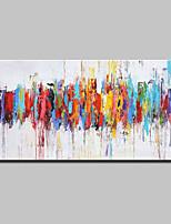 economico -Hang-Dipinto ad olio Dipinta a mano - Astratto / Pop Art Modern Tela