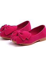 Недорогие -Девочки Обувь Полиуретан Наступила зима Детская праздничная обувь На плокой подошве Для прогулок Бант для Дети Желтый / Пурпурный / Розовый