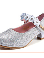 cheap -Girls' Shoes PU(Polyurethane) Spring / Fall Flower Girl Shoes / Tiny Heels for Teens Heels for Silver / Pink