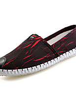 cheap -Men's Shoes Canvas Summer Light Soles Loafers & Slip-Ons Black / Red / Blue