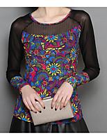 cheap -Women's Basic / Street chic T-shirt - Floral Print