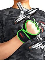 Недорогие -Подъемные перчатки С 2 pcs Микроволокно Встроенные наручные обертки, Регулируется Полная защита от лапы и дополнительный захват, Дышащий, Износостойкий Для
