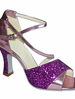 cheap -Women's Latin Shoes Synthetics Heel Slim High Heel Dance Shoes Purple / Green