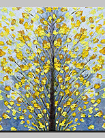abordables -Pintura al óleo pintada a colgar Pintada a mano - Paisaje / Floral / Botánico Modern Lona
