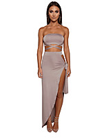 abordables -Mujer Tank Tops - Un Color Falda