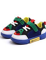 baratos -Para Meninos Sapatos Couro Ecológico Outono & inverno Conforto Tênis Caminhada Presilha para Infantil Branco / Verde / Azul