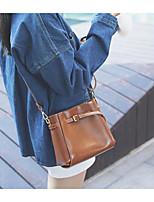 cheap -Women's Bags PU(Polyurethane) Shoulder Bag Solid Black / Brown