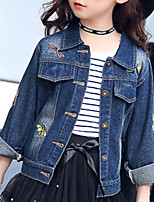 cheap -Kids Girls' Print / Jacquard Long Sleeve Suit & Blazer
