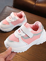 cheap -Girls' Shoes Mesh / PU(Polyurethane) Spring & Summer Comfort Athletic Shoes Walking Shoes Magic Tape for Kids White / Black / Pink