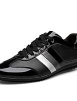 Недорогие -Муж. Комфортная обувь Кожа Весна / Осень Кеды Беговая обувь Черный
