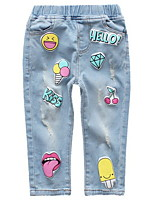 cheap -Kids Girls' Print Jeans