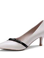 Недорогие -Жен. Обувь Замша / Наппа Leather Весна Туфли лодочки Обувь на каблуках На шпильке Заостренный носок Белый / Миндальный / Для вечеринки / ужина
