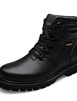 cheap -Men's Microfiber Winter Comfort Boots Booties / Ankle Boots Black